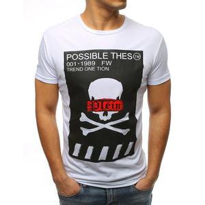 Senzačné biele tričko s atraktívnou potlačou vyobraziť