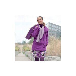 Kabát + šál fialová 42/44 vyobraziť