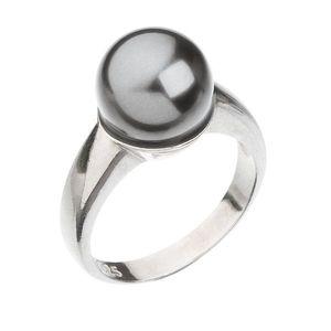 Strieborný prsteň s perlou šedý 35022.3 vyobraziť