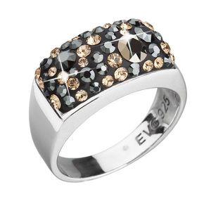 Strieborný prsteň s krištáľmi mix farieb zlatý 35014.4 colorado vyobraziť