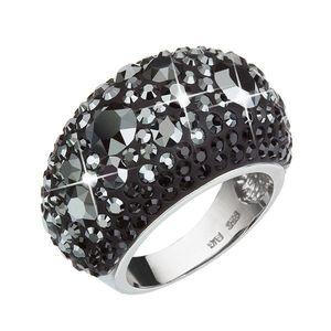 Strieborný prsteň s krištáľmi Swarovski čierny 35028.5 vyobraziť