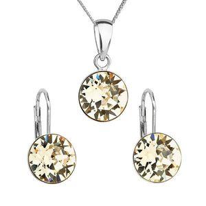 Sada šperkov s krištáľmi Swarovski náušnice, retiazka a prívesok žlté okrúhle 39140.3 vyobraziť