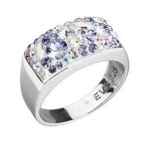 Strieborný prsteň s krištáľmi Swarovski fialový 35014.3 vyobraziť