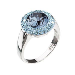 Strieborný prsteň s krištáľmi modrý okrúhly 35025.3 vyobraziť