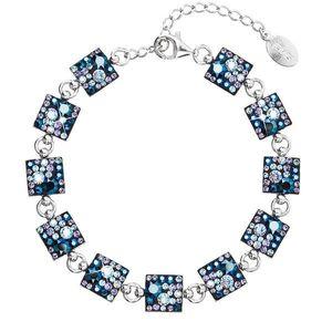 Strieborný náramok so Swarovski krištáľmi modrý 33047.3 blue style vyobraziť