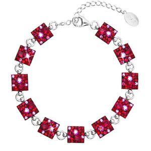 Strieborný náramok so Swarovski krištáľmi červený 33047.3 cherry vyobraziť