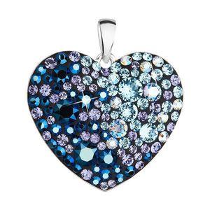 820652a6d Strieborný prívesok s krištáľmi Swarovski modré srdce 34243.3 blue style
