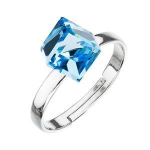 Strieborný prsteň s krištáľmi modrá kostička 35011.3 vyobraziť
