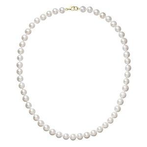 Perlový náhrdelník biely z pravých riečnych perál so zlatým 14 karátovým zapínaním 922003.1 vyobraziť
