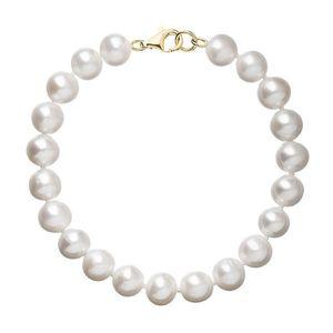 Perlový náramok biely z pravých riečnych perál so zlatým 14 karátovým zapínaním 923003.1 vyobraziť