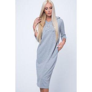 566dde795 Dámske dlhé pletené šaty s kapucňou KouCla (40 kúskov) - ModaModa.sk