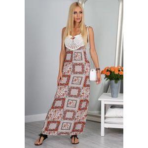 Štýlové dlhé maxi šaty na ramienka vyobraziť