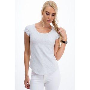 Sivé, pohodlné tričko s krátkym rukávom vyobraziť