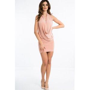 Sexi, pudrové šaty 4 v 1 vyobraziť