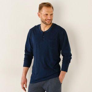 Pyžamové tričko s dlhými rukávmi nám.modrá 87/96 (M) vyobraziť
