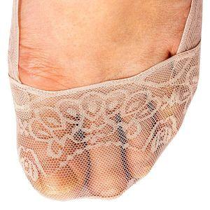 Čipkované ponožky do balerín ružová/biela/ružová 36-41 vyobraziť