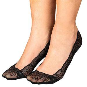 Čipkované ponožky do balerín čierna/čierna/čierna 36-41 vyobraziť