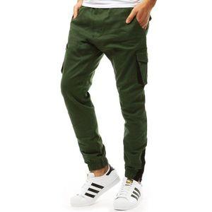 Pánske zelené nohavice typu jogger (ux1916) vyobraziť