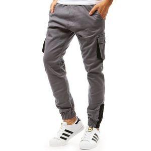 Sivé pánske jogger nohavice (ux1917) vyobraziť
