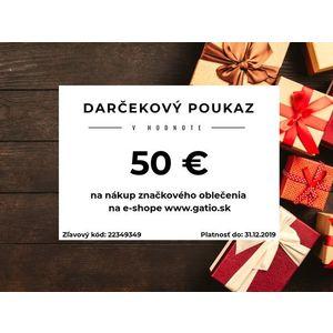 Darčekový elektronický poukaz v hodnote 50€ vyobraziť