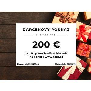 Darčekový elektronický poukaz v hodnote 200€ vyobraziť