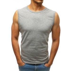 Svetlo-šedé pánske tričko bez rukávov (rx3498) vyobraziť