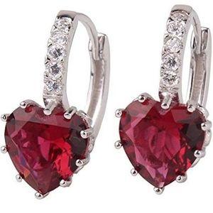 Náušnice Silver Heart - Červená KP1557 vyobraziť