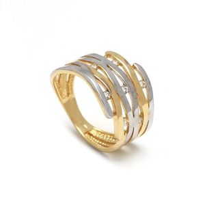 Zlatý dámsky prsteň EDVIGE vyobraziť