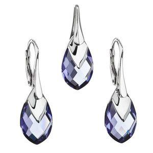 Sada šperkov s krištálmi Swarovski náušnice a prívesok fialová slza 39169.4 tanzanite vyobraziť