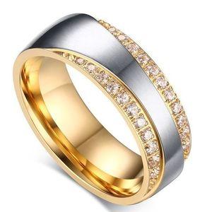 Dámsky Prsteň Promise-Zlatá/Str./49mm KP4860 vyobraziť