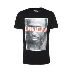 Mister Tee Tričko '2Pac All Eyez On Me' čierna / biela vyobraziť