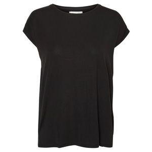 VERO MODA Tričko 'AVA PLAIN' čierna vyobraziť