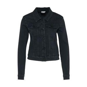 Noisy May Prechodná bunda 'Debra' čierna denim vyobraziť