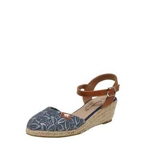 Svetlomodré dámske sandále vyobraziť