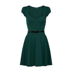 Boohoo Šaty 'Lara' zelená vyobraziť