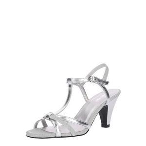 ABOUT YOU Remienkové sandále 'Lola' strieborná vyobraziť