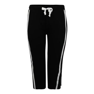 Urban Classics Curvy Nohavice čierna / biela vyobraziť