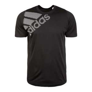 ADIDAS PERFORMANCE Funkčné tričko 'Freelift Badge of Sport Graphic' čierna / biela vyobraziť