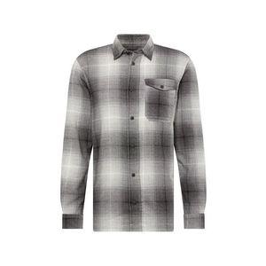 JACK & JONES Košeľa sivá melírovaná / čierna / biela vyobraziť