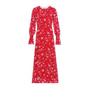 IVY & OAK Letné šaty šedobéžová / červené / biela vyobraziť