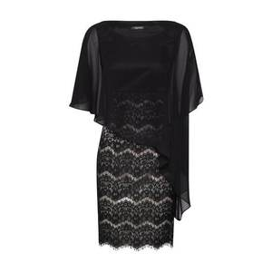 SWING Kokteilové šaty zlatá / čierna vyobraziť