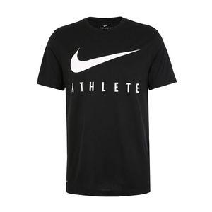NIKE Funkčné tričko 'M NK DRY TEE DB ATHLETE' biela / čierna vyobraziť