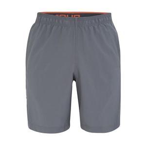 UNDER ARMOUR Športové nohavice 'Woven Graphic Wordmark' sivá / oranžová / biela vyobraziť
