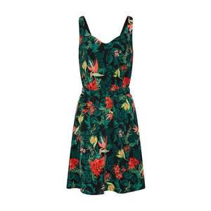 VILA Letné šaty 'Vilaia' zelená / čierna vyobraziť