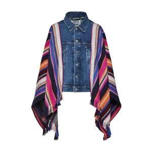 Levi's Made & Crafted Prechodná bunda modrá denim / zmiešané farby vyobraziť