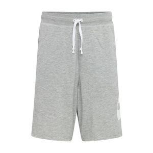 Nike Sportswear Nohavice sivá melírovaná / biela vyobraziť