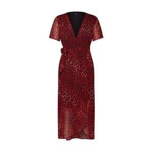 Bardot Letné šaty 'LEOPARD WRAP DRESS' červené vyobraziť