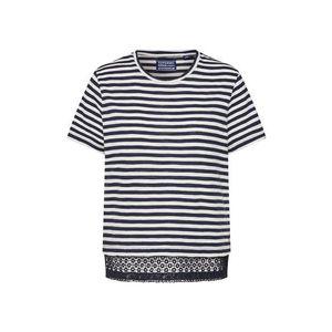 Superdry Tričko námornícka modrá / biela vyobraziť