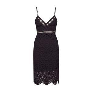 Bardot Kokteilové šaty 'SOFIA EMBROIDERED DRESS' čierna vyobraziť