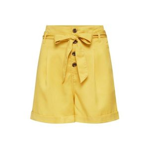 ONLY Plisované nohavice 'onlSIRI HW BELT SHORTS PNT BJ14053' žlté vyobraziť